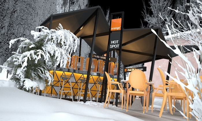 Propunere amenajare Orange Winter Bar
