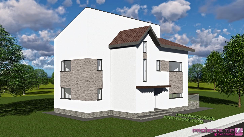 Proiect casa parter etaj si mansarda 305 mp laura for Case parter