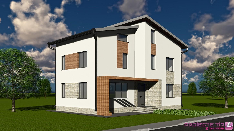 Proiect casa parter etaj si mansarda 265mp tina for Modele de case fara etaj cu terasa