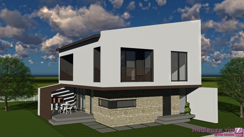 Proiect casa parter si etaj 144mp anca for Proiecte case cu etaj si terasa
