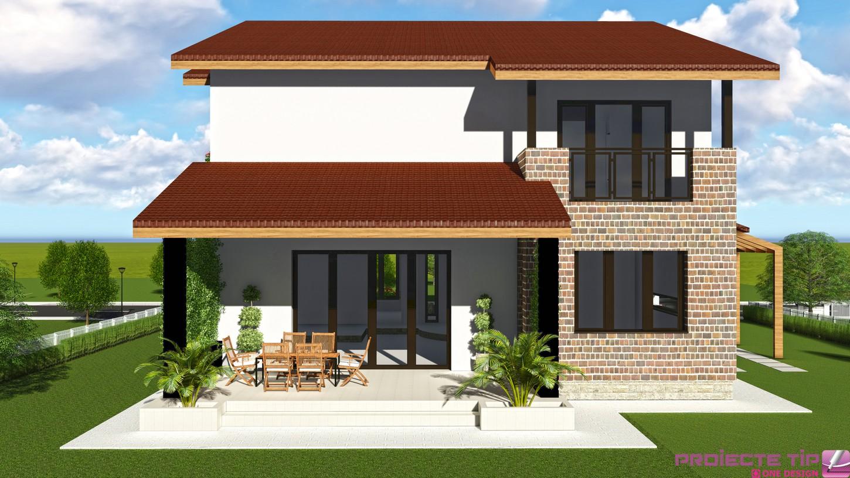 Proiect casa parter si etaj 250 mp gabriela for Proiecte case cu etaj si terasa