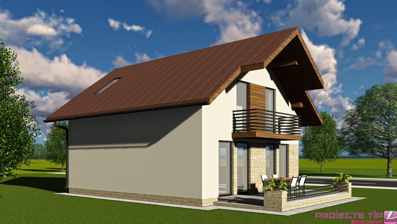 Proiect casa parter si mansarda 144 mp florina for Case parter