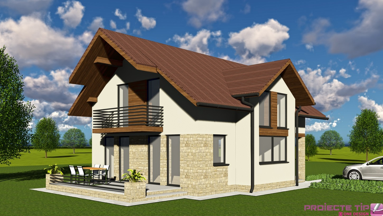 Proiect casa parter si mansarda 144 mp florina for Youtube case cu mansarda
