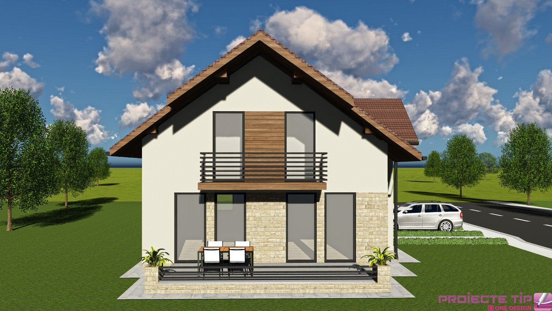 Proiect casa parter si mansarda 144 mp florina for Proiecte case parter